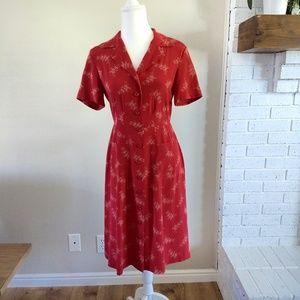 Sundance Silk Red Dress, Size 6